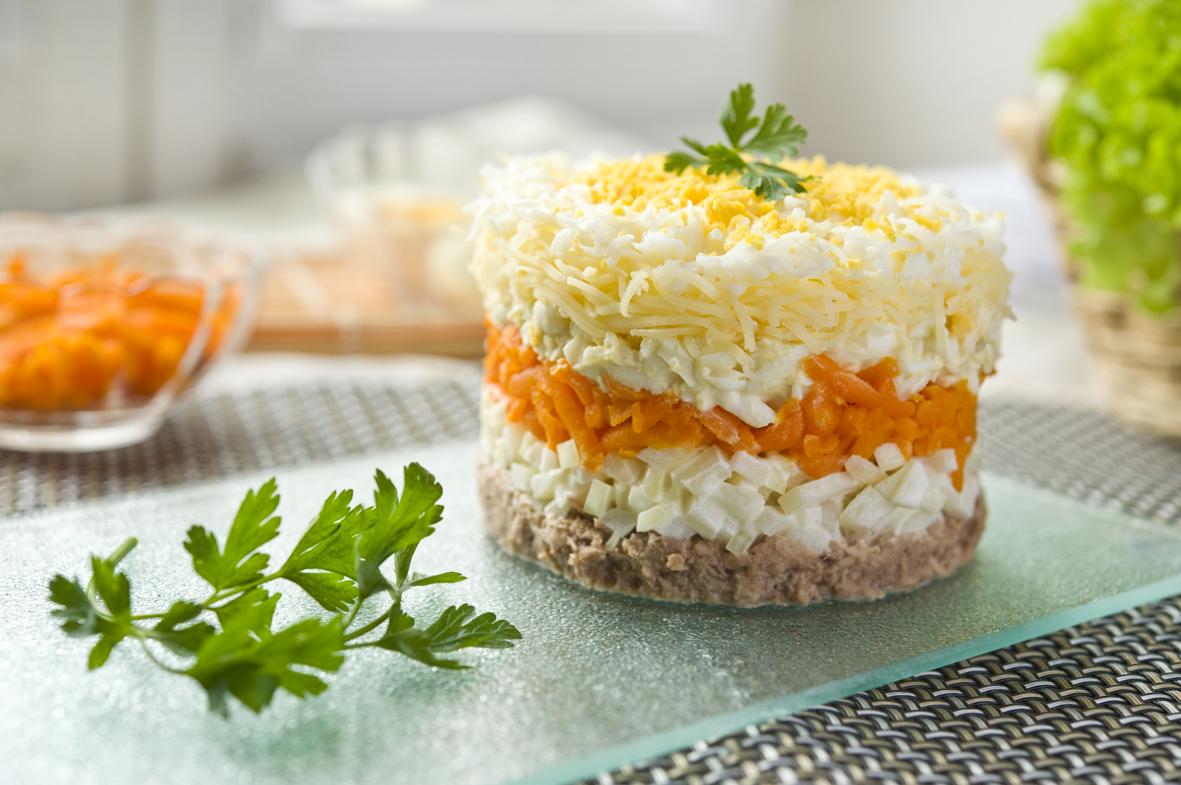 Рецепт салата мимоза с